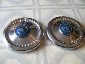 2 Old Chevy Dogdish Hubcaps Rat Rod