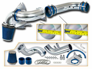 Blue Cold Air Induction Intake Kit Dry Filter For Ford 96 04 Mustang Gt 4 6 V8