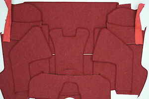 Porsche 356 A Coupe Original German Square Weave Carpet Kit 1958 1959 Red