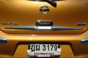 Chrome Back Rear Tank Lid Cover Trim For Nissan March