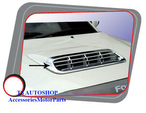 Chrome Hood Scoop Cover Trim For New Toyota Fortuner 2011