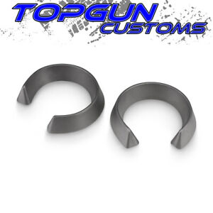 2 Front Lift Leveling Kit Coil Spring Spacers For 92 07 Chevy Gmc 1500 Silver