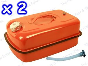 Party For 2 Jerry Can Red Gas Tank Nato Military Universal Non Used 2 Pcs Boat