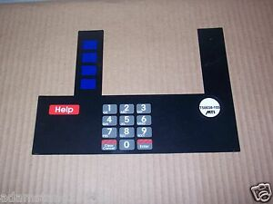 New Gilbarco Marconi T50038 105 Key Pin Pad Keyboard Over Lay Display