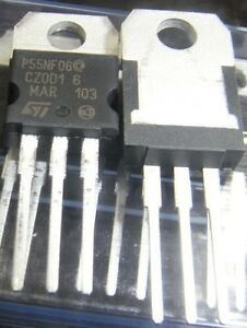 100 Pcs Stp55nf06 P55nf06 To 220 New St Power Mosfet N channel 60v 50a
