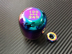 Neo Chrome 10x1 5mm Weighted Typer Shift Knob Honda Civic Integra Gsr Accord Crx