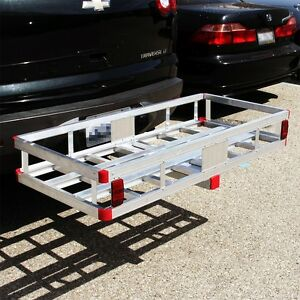 Aluminum Cargo Carrier Luggage Rack Bumper 2 Receiver Hitch Ball Mount Rv Truck