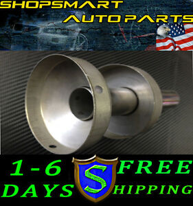 3 88 Or 98 75mm Exhaust Muffler Removable Silencer Round Tip Honda Civic Jdm