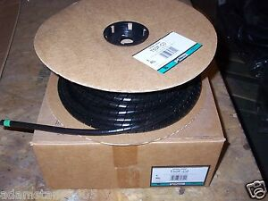 New Panduit Spiral Wire Cable Wrap T50f c0 Poly 1 2 Od Black 100 Feet