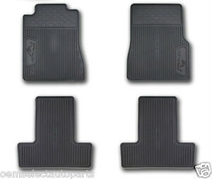 Oem New 2005 2009 Ford Mustang All weather Vinyl Floor Mats Rubber Pony Logo