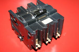 Federal Pacific 30 Amp 3 pole Breaker Nb330 Bolt on