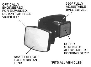 Maxi View Blind Spot Mirrors 10 Pack ten Pair Buy Direct From The Factory