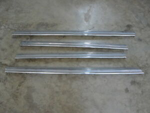 Mercedes W186 189 300 A B C D Set Door Window Sill Chrome Trim