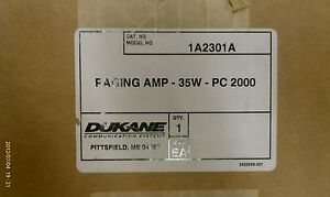 Dukane 1a2301a 35 Watt Paging Amplifier For Procare 2000 Nurse Call System