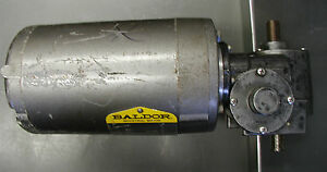 Baldor 1 12 Hp Motor With Right Angle 1200 1 Gear Reducer