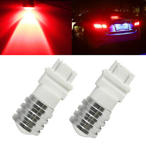 2x 3157 3156 Super Red 24 Smd Led Bulbs For Rear Turn Signal Brake Tail Lights