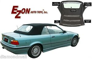 Bmw E36 Convertible Soft Top W Retainers Plastic Window Stayfast Cloth 94 99