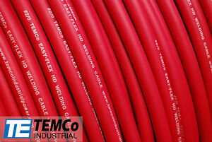 Welding Cable 2 0 Red 15 Ft Battery Leads Usa New Gauge Copper Awg Solar