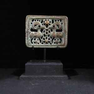 Rare Ancient Eurasian Bronze Openwork Plaque