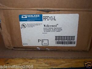 New Walker Rpd10 il Walkermed Electrical Raceway Internal Elbow Base Box Of 2