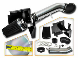 Cold Heat Shield Air Intake Kit Black For 99 07 Silverado 1500 4 8l 5 3l 6 0l V8