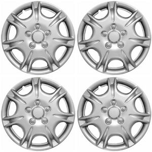 4pc Set Fits Silver Abs 15 Wheel Cover Hub Caps Fits 2000 2001 Nissan Maxima