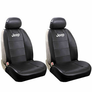 Officially Licensed Synthetic Leather Universal Sideless Seat Covers For Jeep