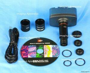 10 Mp Usb Cmos Microscope Digital Camera Eyepiece For Windows Mac Os10 System