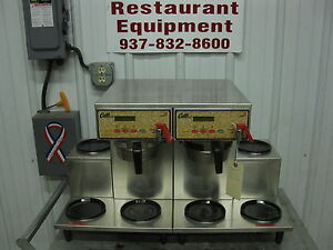 Curtis Double Coffee Brewer Maker W 6 Warmer Hot Plates Alp6gt12a003 Alpha 3gt