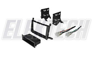 Radio Replacement Dash Mount Kit 1 Or 2 Din W Pocket Harness For Toyota Venza