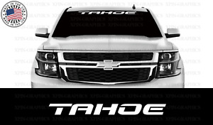 Tahoe Tahoe Chevy Chevrolet Windshield Window Banner Decal Vinyl Sticker