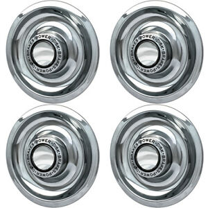 4 Pc Hubcaps Fits Chevy Gm 15 Silver Bolt In Replacement Wheel Rim Cover
