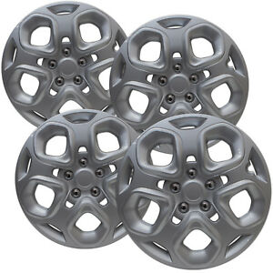 4 Pc Hub Caps Fits Ford Fusion 17 Silver Wheel Replacement