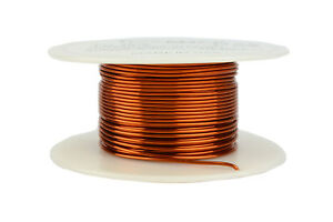 Temco Magnet Wire 19 Awg Gauge Enameled Copper 200c 4oz 63ft Coil Winding