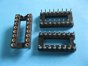 300 X Ic Socket Adapter Round 16 Pin Headers ic sockets Pitch 2 54mm X 7 62mm