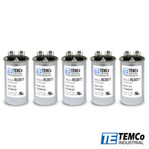 Temco 30 Mfd Uf Run Capacitor 370 Vac Volts 5 Lot Ac Motor Hvac 30 Uf