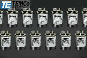 Temco 5 Mfd Uf Run Capacitor 370 440 Vac Volts 50 Lot Ac Motor Hvac 5 Uf