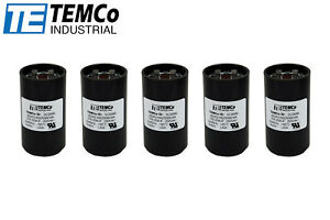 Temco 216 259 Mfd Uf Electric Motor Start Capacitor 220 250vac Volt Hvac 5 Pc