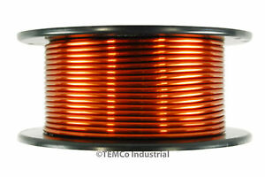 Temco Magnet Wire 8 Awg Gauge Enameled Copper 1 5lb 35ft 200c Coil Winding