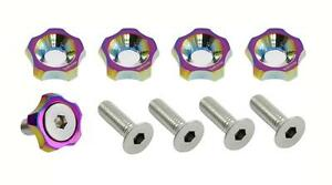 New vms Star 20 Pc Fender Bumper Headlight Washer 10mm 10 Mm Bolt Kit Neo Chrome