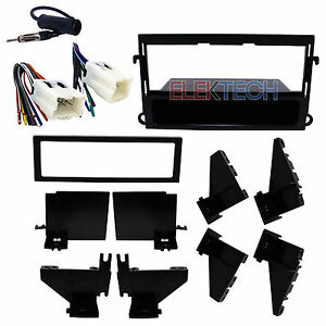Radio Replacement Dash Mount Kit 1 Din W Pocket Harness Antenna For Nissan