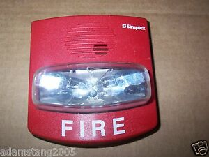 Simplex 4903 9418 22 29v Fire Alarm Horn With Strobe 0626587 Non address 75 Cd