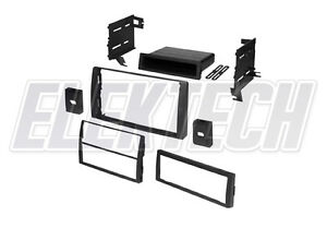 Double Din Single W Pocket Radio Dash Replacement Kit For 2002 2006 Toyota Camry