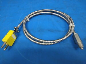 Omega Thermocouple Cable Clamp W Connector 4 Feet