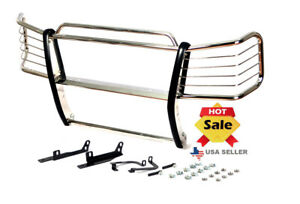 03 06 Chevy Avalanche no Cladding Chrome Stainless Steel Grille Brush Guards