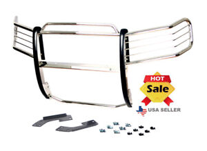 Fit 04 15 Nissan Titan 04 15 Nissan Armada Chrome Brush Grill Guard Stainless