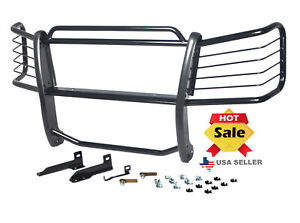 Fits 2002 2006 Chevy Avalanche 1500 W Cladding Black Grille Brush Guards