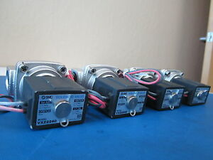 Lot Of 4 Smc Vxz2240 Solenoid Valve