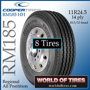8 Tires Roadmaster Rm185 11r24 5 Semi Truck Tire 24 5 Tires 11245 Tires
