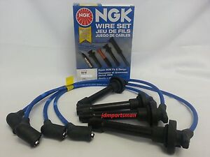 92 97 Honda Accord Dx Lx Se Ngk Japan Blue Spark Plug Wire Set He62